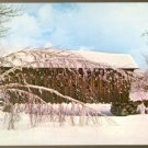 WINTER SPLENDOR AND A VERMONT COVERED BRIDGE POSTCARD