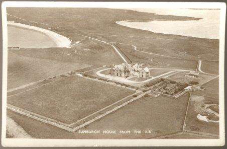 SUMBURGH HOUSE SHETLAND UNITED KINGDOM RPPC 1950 POSTCARD