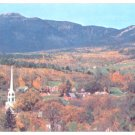 LOVELY AUTUMN BIRDS EYE VIEW STOWE VERMONT MT MANSFIELD POSTCARD