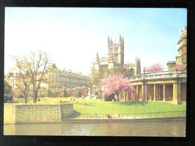 ABBEY & PARADE GARDENS BATH AVON 1950 UNITED KINGDOM ENGLAND POSTCARD