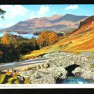 ASHNESS BRIDGE AND SKIDDAW THE LAKE DISTRICT UNITED KINGDOM POSTCARD 1955