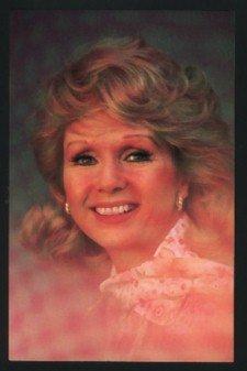 1980 DEBBIE REYNOLDS CORAL-LEE POST CARD