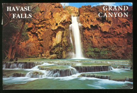 SPLENDID VIEW HAVASU FALLS GRAND CANYON AZ ARIZONA POSTCARD