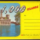1000 ISLANDS NEW YORK 1950s SOUVENIR POSTCARD FOLDER