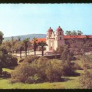 MISSION SANTA BARBARA CA 1960s POSTCARD CALIFORNIA
