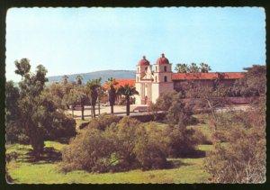 MISSION SANTA BARBARA CA 1960s POSTCARD CALIFORNIA