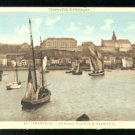 FISHING BOATS IN HARBOR GRANVILLE FRANCE VINTAGE POSTCARD