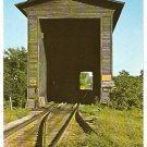 COVERED RAILROAD BRIDGE SWANTON VERMONT VT 1960 POSTCARD