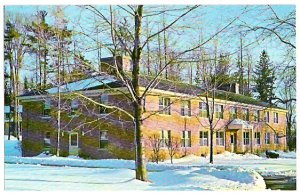 HALLIWELL HALL CRANWELL SCHOOL LENOX MA ca1960 POSTCARD