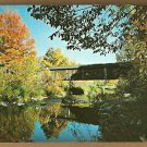 COVERED BRIDGE SAXTONS RIVER GRAFTON VERMONT VT 1960 POSTCARD