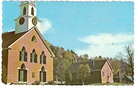 1960 TIMOTHY FROST METHODIST CHURCH THETFORD CENTER VERMONT POSTCARD