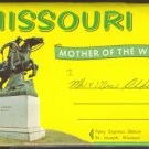 GREETINGS FROM MISSOURI 1950s SOUVENIR POSTCARD FOLDER