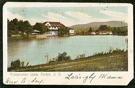 KNICKERBOCKER LODGE FISHKILL NEW YORK 1906 POSTCARD