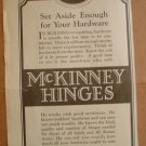 ORIGINAL 1923 McKINNEY HINGES AD PITTSBURGH PA PENNSYLVANIA
