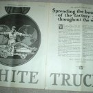 LARGE 22x11 ORIGINAL 1923 WHITE TRUCKS AD CLEVELAND OHIO