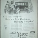 ORIGINAL 1923 REX CAR TOP ENCLOSURE VAN DORN DRILLS ADS