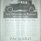 LARGE ORIGINAL 1923 PACKARD STRAIGHT EIGHT AD