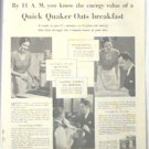 ORIGINAL 1931 QUICK QUAKER OATS LARGE MAGAZINE AD