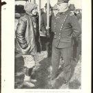 AVIATRIX RUTH LAW MEETS GENERAL LEONARD WOOD ORIGINAL 1918 MAGAZINE PHOTO