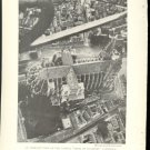 WORLD WAR 1 WW1 AERIAL VIEW CROSS OF CHARTRES CATHEDRAL FRANCE 1918 GEOGRAPHIC PHOTO