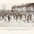 ORIGINAL 1918 WORLD WAR 1 WW1 MAGAZINE PHOTO DOUGHBOYS TRAINING