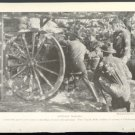 "1918 1ST VIRGINIA FIELD ARTILLERY TRAINING AT CHICKAMAUGA WITH 3"" GUN WW1 MAGAZINE PHOTO"