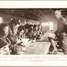 WW1 GEOGRAPHIC PHOTO CAMP KEARNY DOUGHBOYS READING WITH INSTRUCTOR