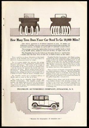 Original 1918 FRANKLIN AUTOMOBILE AD