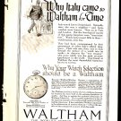 Original 1918 WALTHAM WATCH + SHEAFFERS SELF FILLING FOUNTAIN PEN ADS