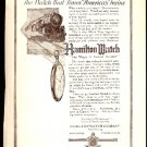 1918 Ad Hamilton Watch The Watch That Times America's Trains locomotive Davey Tree Surgeon Kent Oh