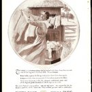 ORIGINAL 1918 IVORY SOAP AD WITH WOMAN HANGING LAUNDRY OUTDOORS