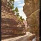 THE NARROWS IN WILLIAMS CANYON MANITOU COLORADO 1930/1945 LINEN POST CARD