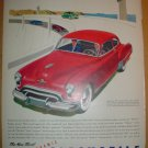 1949 FULL PAGE ADS FUTURAMIC OLDSMOBILE POWERED BY THE NEW ROCKET ENGINE + DR WEST'S MIRACLE-TUFT