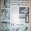 1949 FULL PAGE AD P-F CANVAS SHOES + ARVIN SUPER POWERED PORTABLE RADIOS