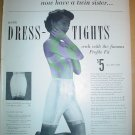 1949 FULL PAGE AD SIL-O-ETTE DRESS TIGHTS WITH SEXY WOMEN