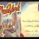 1944 NEW YORK CITY SOUVENIR POSTCARD FOLDER
