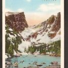 DREAM LAKE ESTES PARK ROCKY MOUNTAIN NATIONAL PARK 1949 POSTCARD