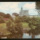 ca 1960 POSTCARD SPLENDID VIEW OF ST FRANCIS XAVIER CHURCH & GROUNDS NASHUA NH NEW HAMPSHIRE