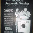 ORIGINAL 1949 NORGE AUTOMATIC WASHER FULL PAGE AD IT WASHES TWICE AS MUCH AS ANY OTHER