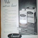 AMUROL TOOTH POWDER YOUR DENTIST KNOWS WHY YOU'LL WANT AMUROL ORIGINAL 1949 FULL PAGE AD