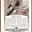 1918 AD GRATON & KNIGHT LEATHER BELTING WORCESTER MA.