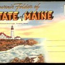 ca 1930s MAINE SOUVENIR POSTCARD FOLDER