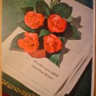 1949 FOUR ROSES WHISKEY AD FULL PAGE FULL COLOR WOULDNT YOU RATHER DRINK FOUR ROSES?