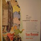 1949 FULL COLOR VAN HEUSEN SHIRTS AD THE WORLDS SMARTEST SPORT SHIRT