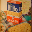 FOR FINER FLAVOR SERVE HI HO CRACKERS 1949 FULL COLOR AD