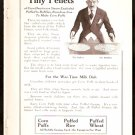 1918 AD QUAKER OATES CORN PUFFS PUFFED RICE PUFFED WHEAT & FENESTRA STEEL WINDOWS DETROIT MI