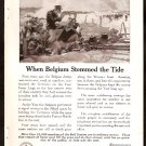 1918 WORLD WAR 1 AD ATT AMERICAN TELEPHONE BELGIUM ARMY FIGHTING THE HUN