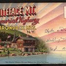 1955 WHITEFACE MT MEMORIAL HIGHWAY ADIRONDACK MTS NEW YORK POSTCARD FOLDER