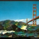 SPLENDID VIEW GOLDEN GATE BRIDGE SAN FRANCISCO 1968 POSTCARD
