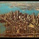 ca 1961 SPLENDID BIRDS EYE VIEW LOWER MANHATTAN NEW YORK CITY